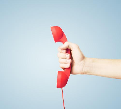 red handset