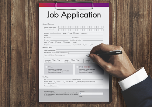 job application, employment, interview