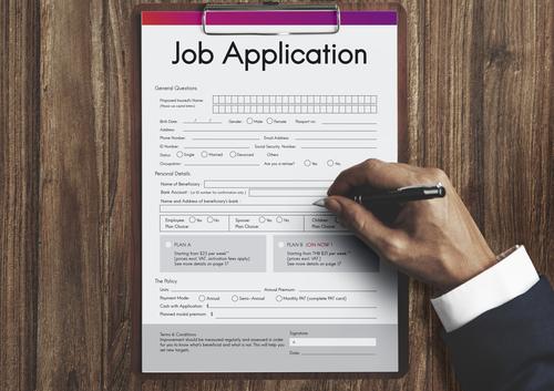 job application, employment, interview