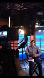 "Sam Allen during production of Aspergers101 ""Celebrating the Uniqueness of Autism"" PSA Series with Sinclair Broadcasting."